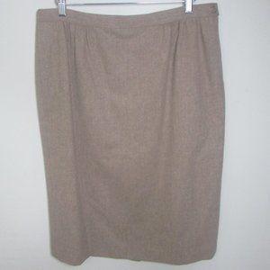 Pendleton Wool Skirt 16W Brown